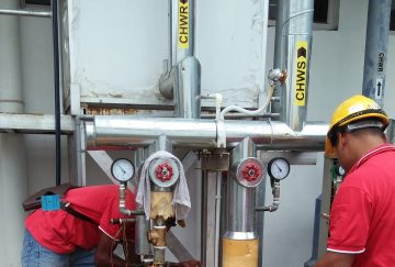 Design and installation of air cooled chiller